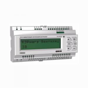 ОВЕН ПЛК63 контроллер с HMI для локальных систем в корпусе на DIN-рейку с AI/DI/DO/AO